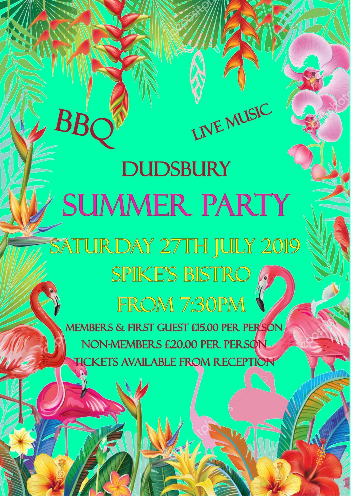 Dudsbury Golf Club, Hotel & Spa - Summer Party 2019 Poster